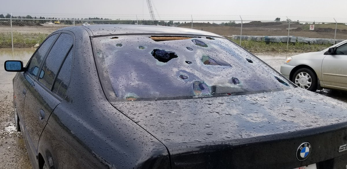 CALGARY HIT BY ANOTHER HAIL STORM