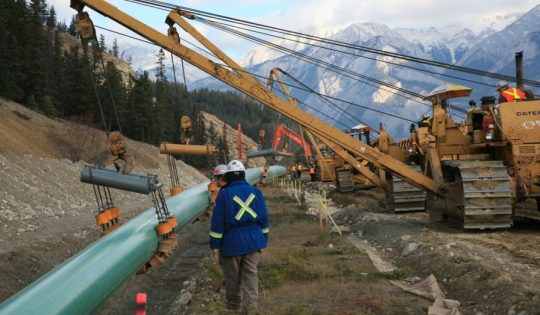 TRANS MOUNTAIN PERMITS PULLED