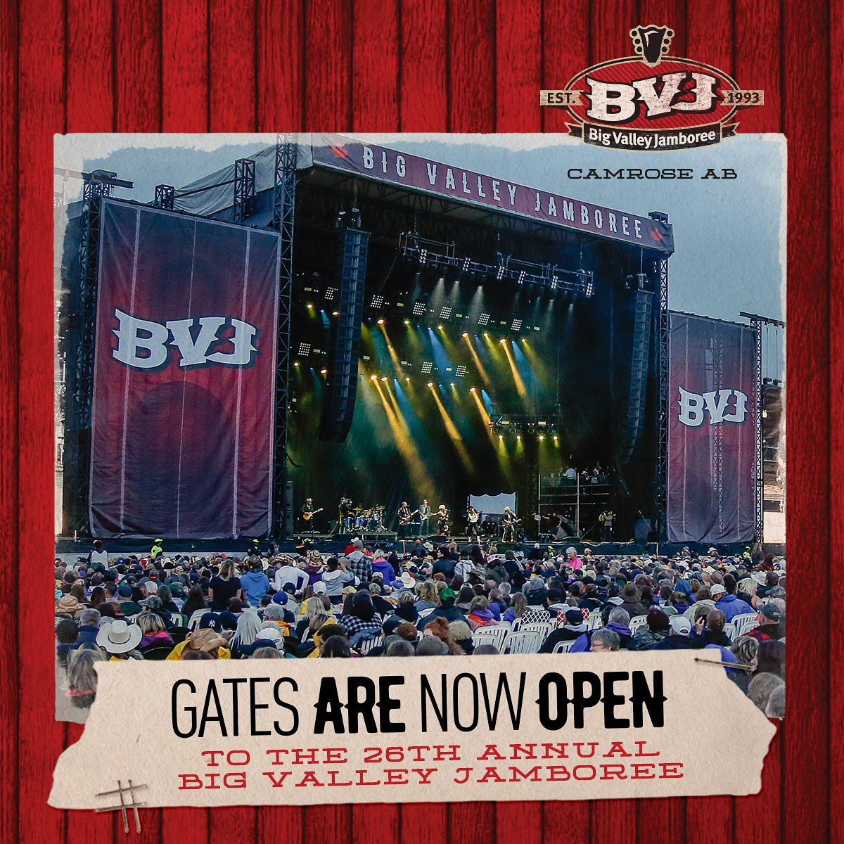 GATES TO BVJ ARE OPEN!