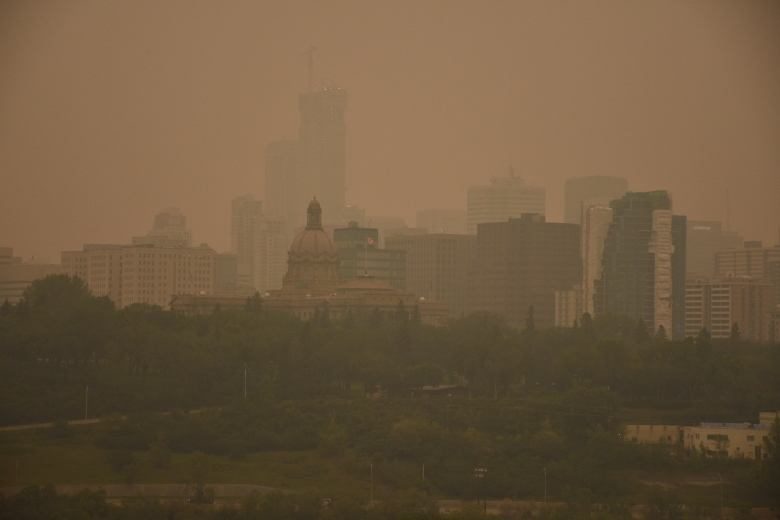 ANOTHER--COUGH-COUGH----SMOKY DAY --SPUTTER--IN ALBERTA