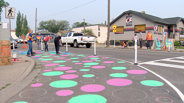 CALGARY TRYING OUT POLKA DOTS--TO SAVE LIVES