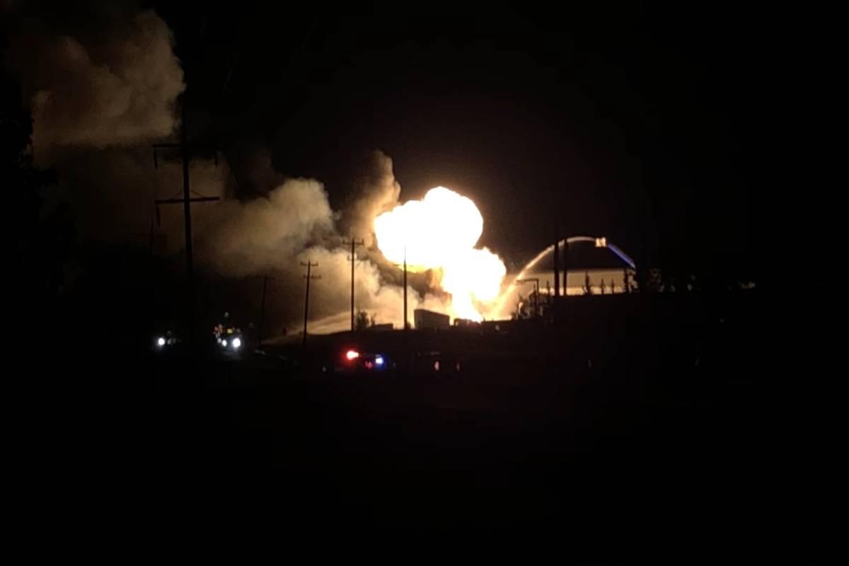 RAPID FIRE EXPLOSIONS HEARD IN NISKU FIRE LAST NIGHT