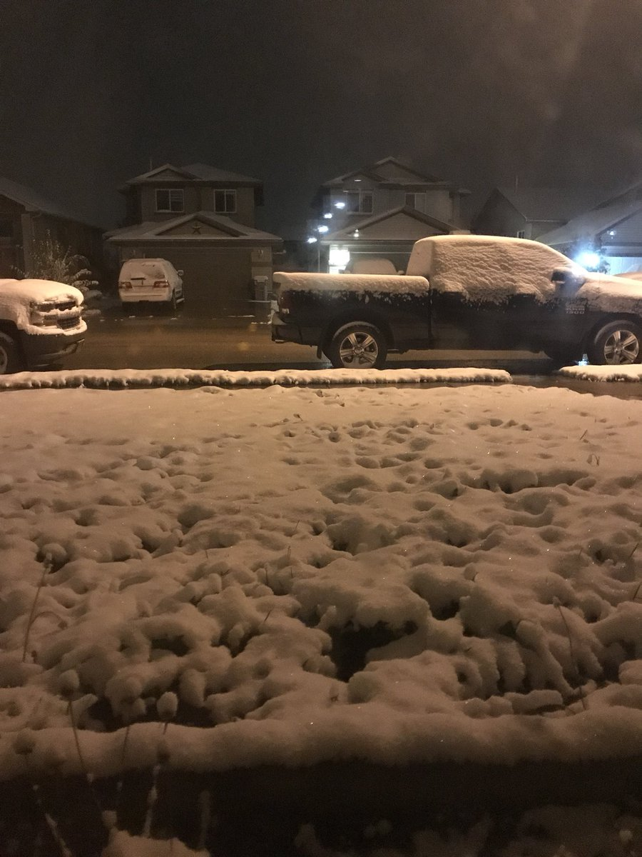 THE SNOW HAS ARRIVED IN SOME PARTS OF ALBERTA
