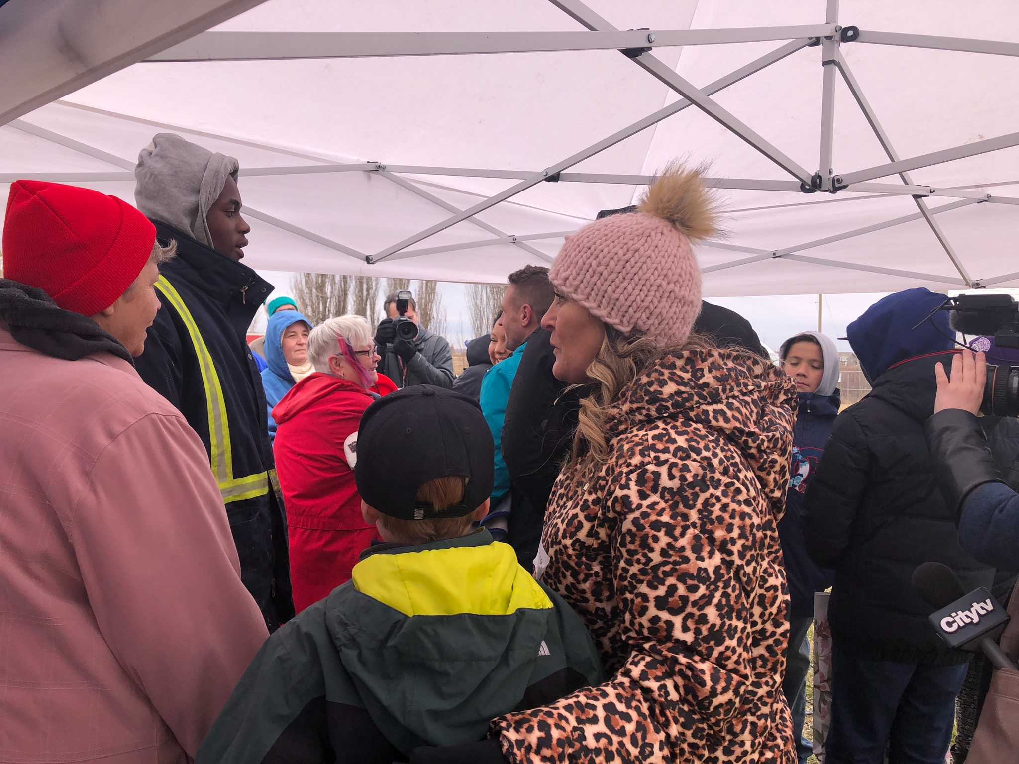 MORE THAN 2-HUNDRED TURN OUT FOR A BLOCK PARTY TO DENOUNCE RACISM IN ST. ALBERT