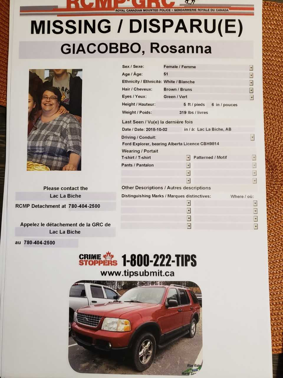 WOMAN MISSING SINCE OCTOBER 2ND STILL HASN'T BEEN FOUND