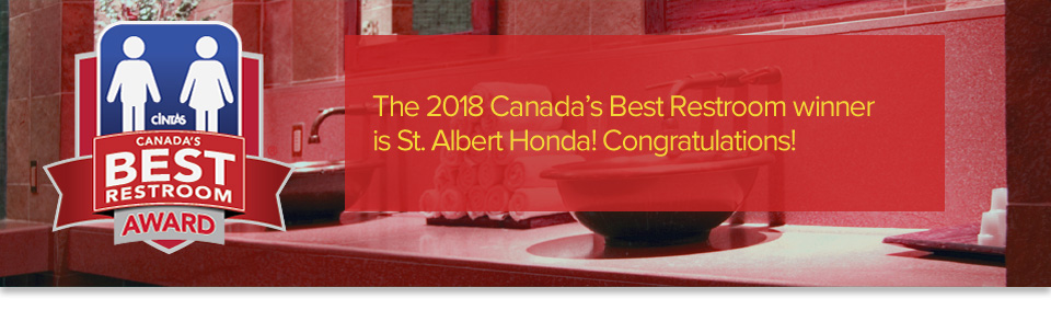 """ST. ALBERT HONDA NAMED THE WINNER OF """"CANADA'S BEST RESTROOM"""""""