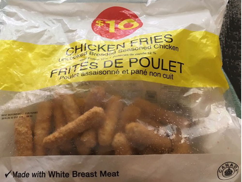 LOBLAWS RECALLING SOME POSSIBLY TAINTED CHICKEN FRIES
