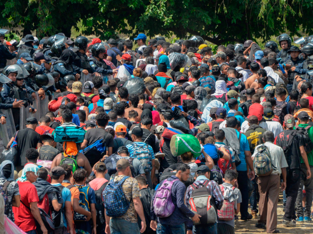 U-S SENDS ARMED TROOPS TO THE SOUTHWESTERN BORDER AS MIGRANT CARAVANS ARE STILL ON THE MOVE