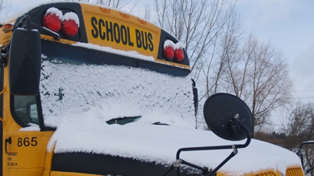 WEATHER IS CAUSING SCHOOL BUS CANCELLATIONS--ETC