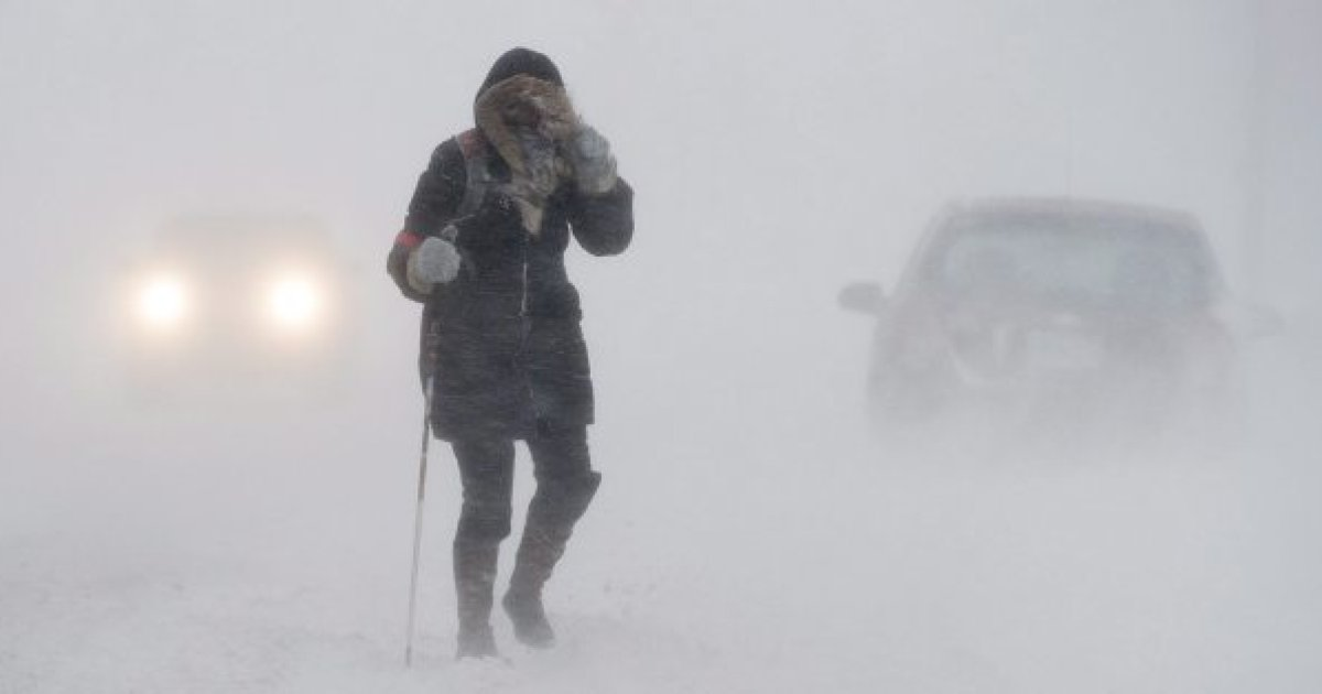 BLIZZARD RAGING IN THE MARITIMES TODAY