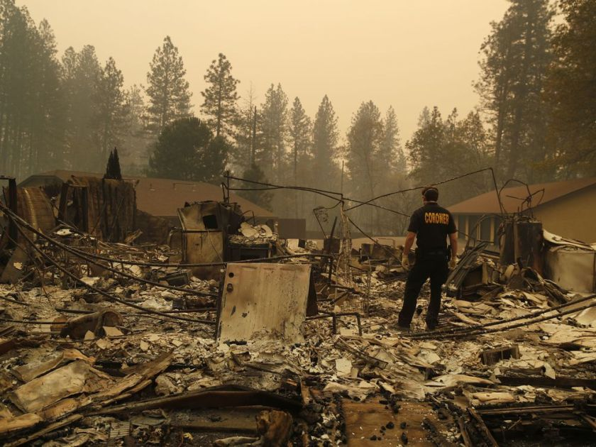 DEATH TOLL STILL RISING FROM THE CALIFORNIA WILDFIRES