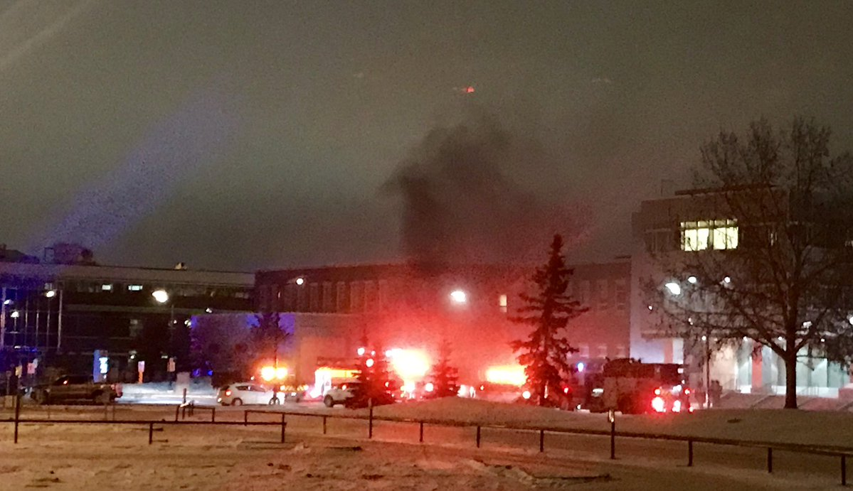 EXPLOSION AND FIRE IN SHERWOOD PARK LAST NIGHT