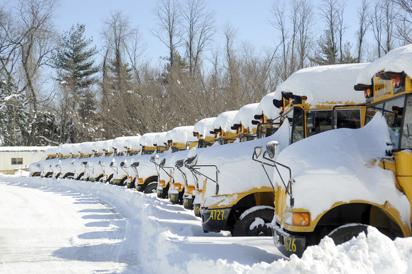 SOME SCHOOL BUSES NOT RUNNING BECAUSE OF THE SNOW