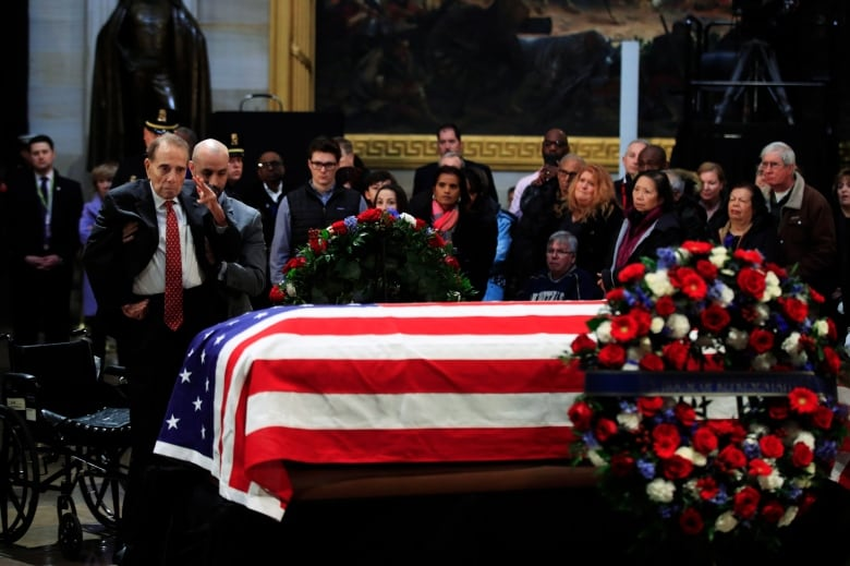 FORMER U-S PRESIDENT GEORGE BUSH BEING LAID TO REST TODAY
