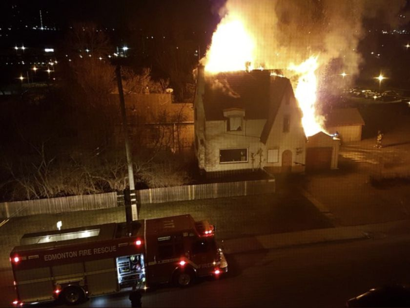 House Fire In Downtown Edmonton This Morning Monday April