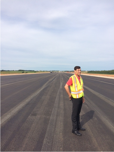 Asphalt being laid for Airport's runway extension