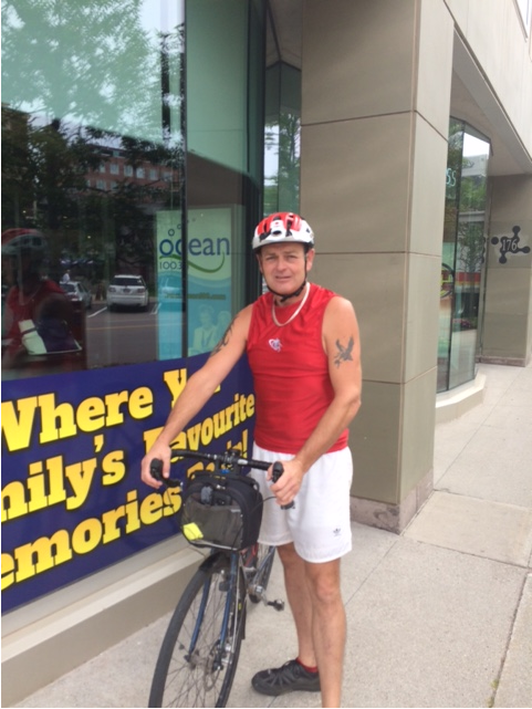 Islander cycles from Calgary to PEI
