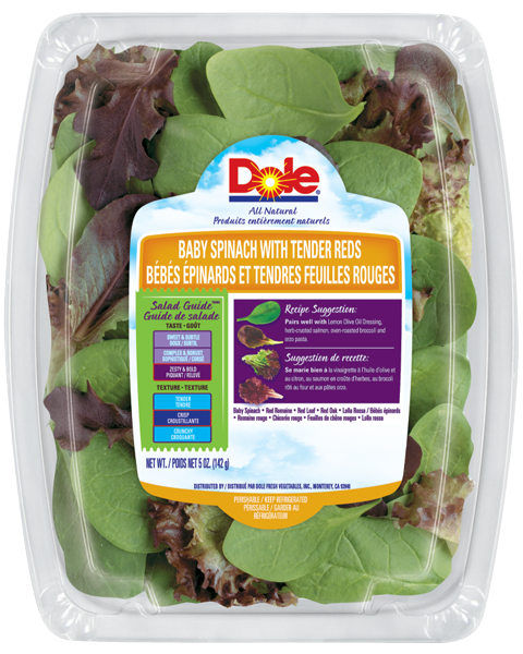 Recall: Dole Baby Spinach with Reds