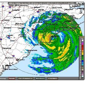 Hurricane Florence is lashing the North Carolina coast