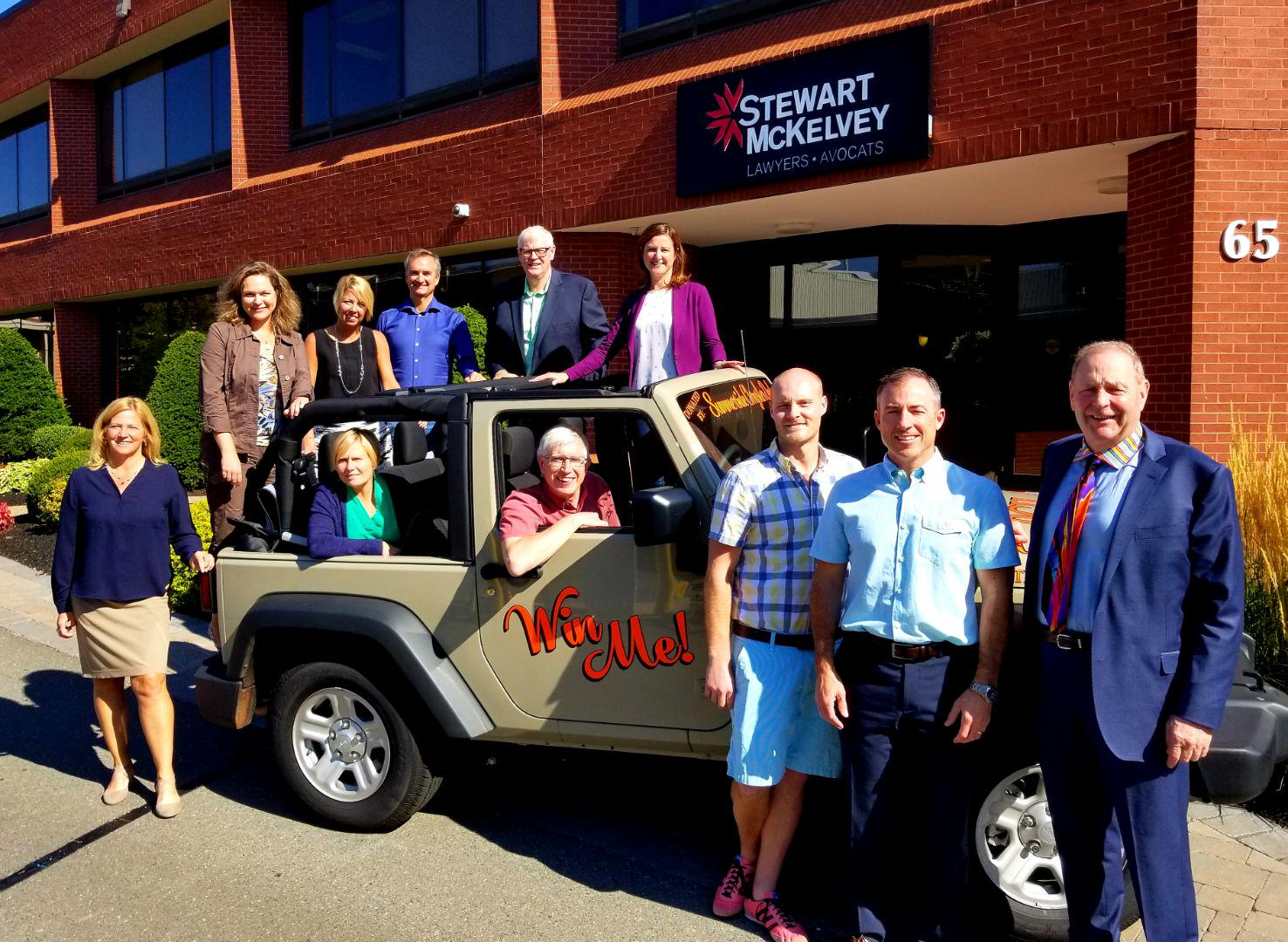 Stewart McKelvey Law Firm donates Jeep it won back to PCH Foundation