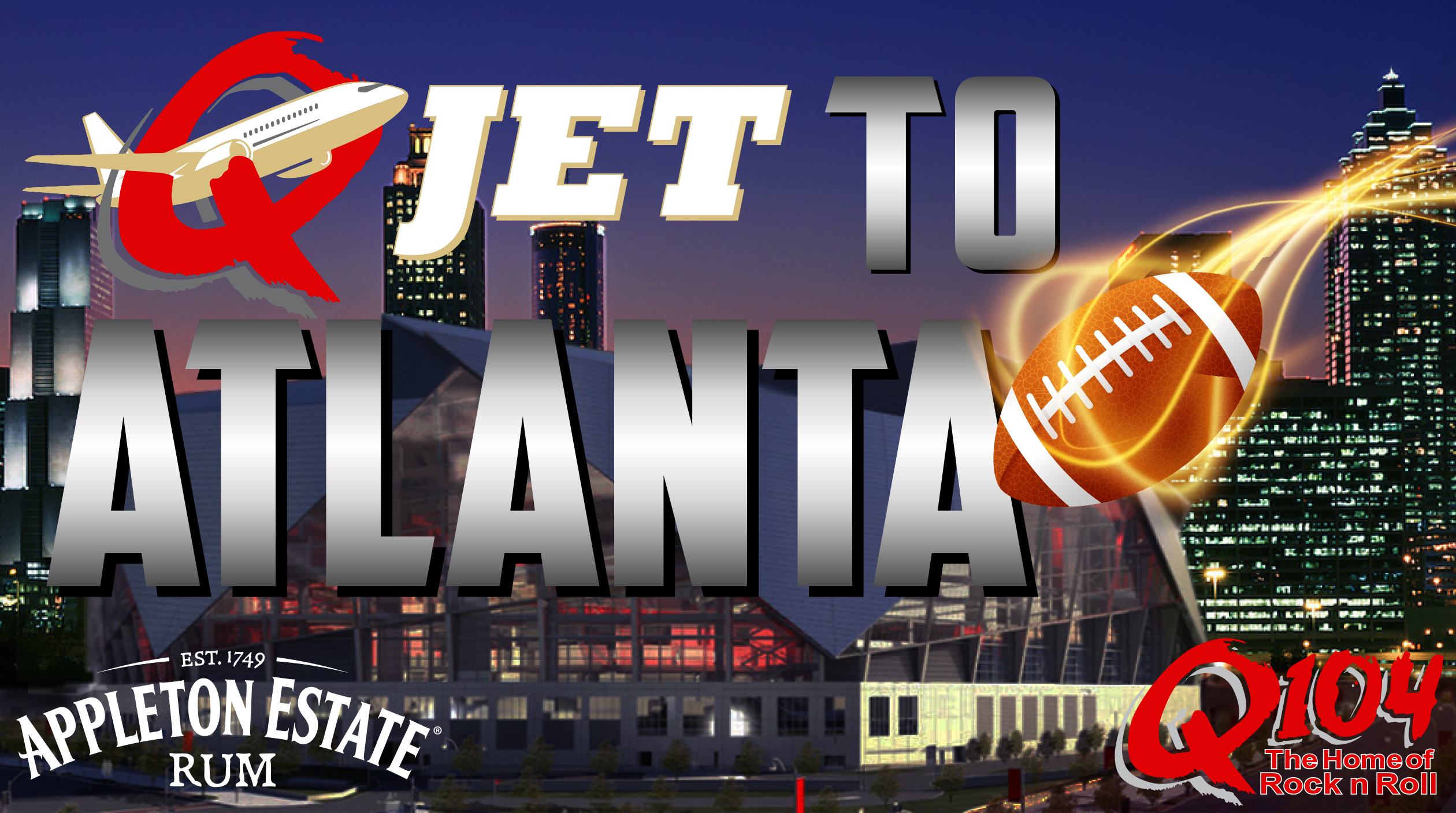 Q104's Q-JET to Atlanta