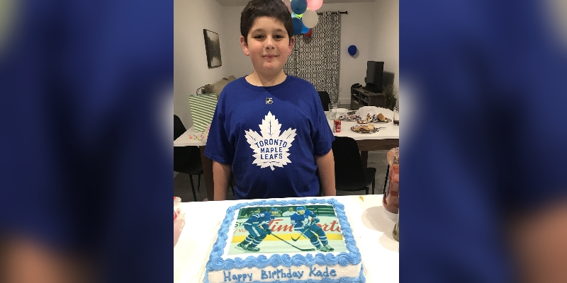 11-year-old Kade gets birthday wishes from Toronto Maple Leaf stars