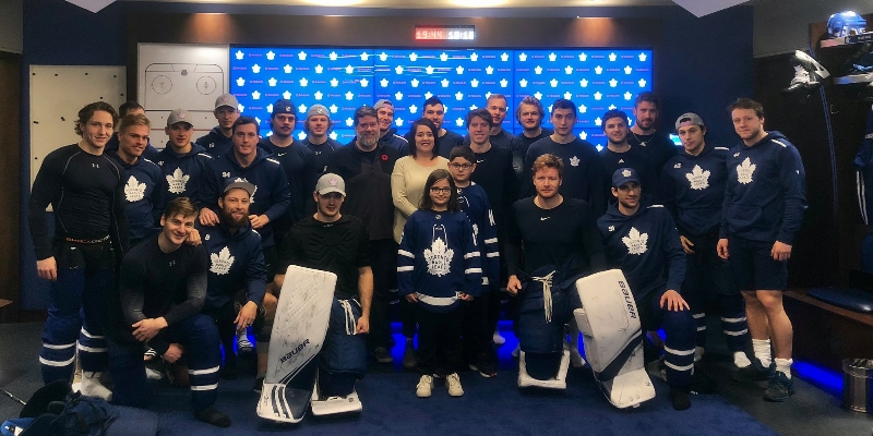 Leafs fan, 11, meets with team after viral lonely birthday tweet