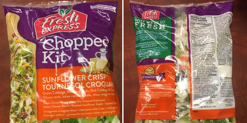 Fresh Express brand Sunflower Crisp Chopped Kit recalled due to E. coli