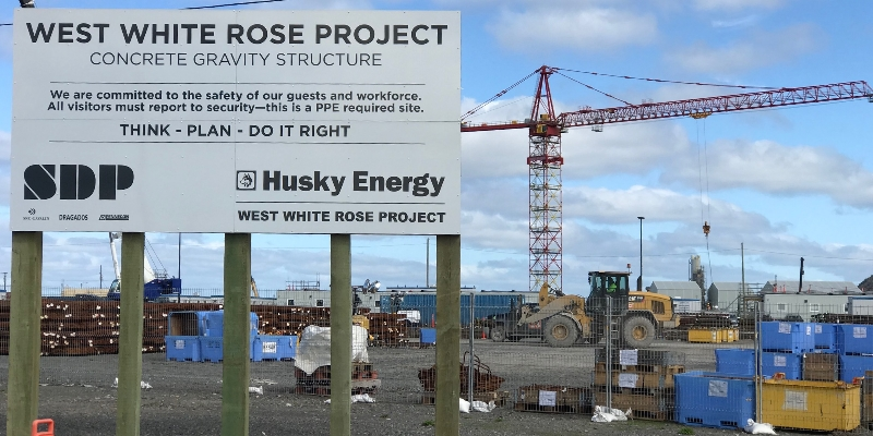Husky Halts West White Rose Construction for 2021