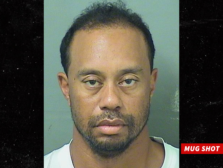 No driving except on the golf course for Tiger Woods...