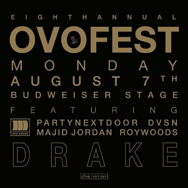 Drake announces 8th Annual OVO Fest lineup!