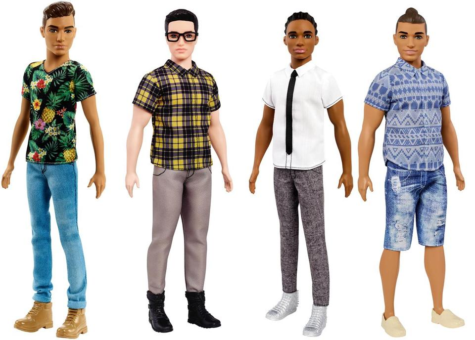 Ken get some new looks, Barbie gets new curves...