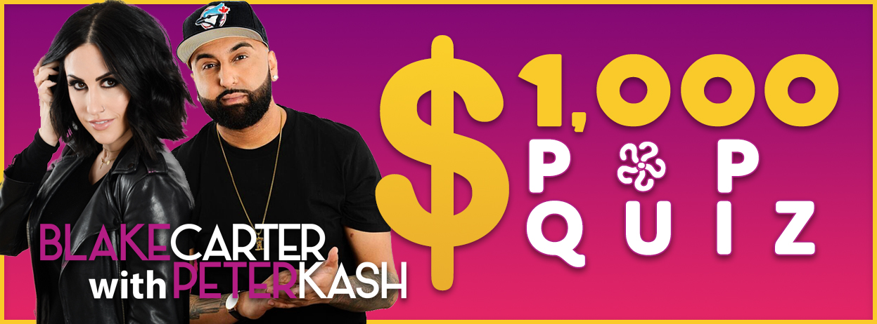 Blake Carter with Peter Kash's $1,000 Pop Quiz