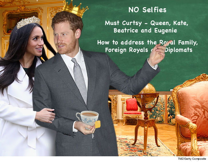 Megan Markle gets schooled on her new Royal Rules...