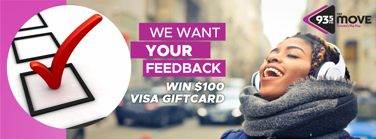 Take our listener survey for the chance to win a $100 Visa Gift Card