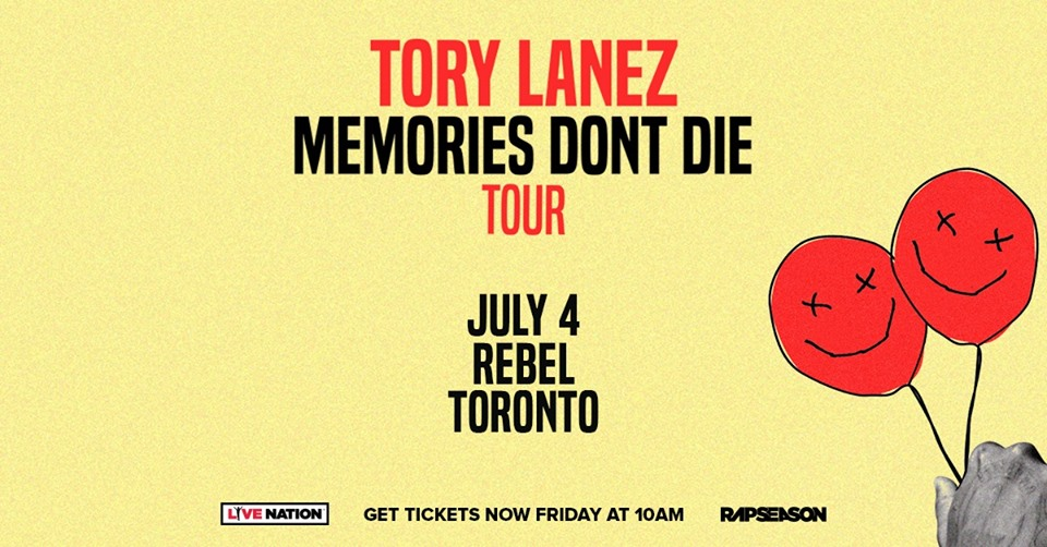Listen to win Tory Lanez Tickets