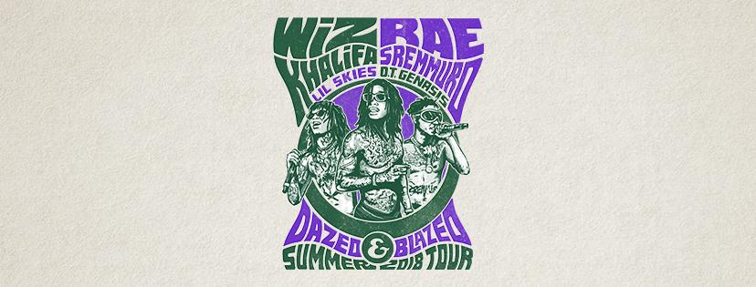 """Listen to win 2 tickets to Wiz Khalifa and Rae Sremmurd """"Dazed & Blazed"""" Summer 2018"""