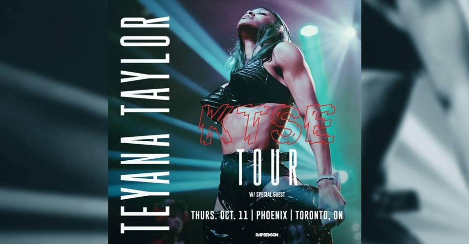 Listen to win Teyana Taylor Tickets