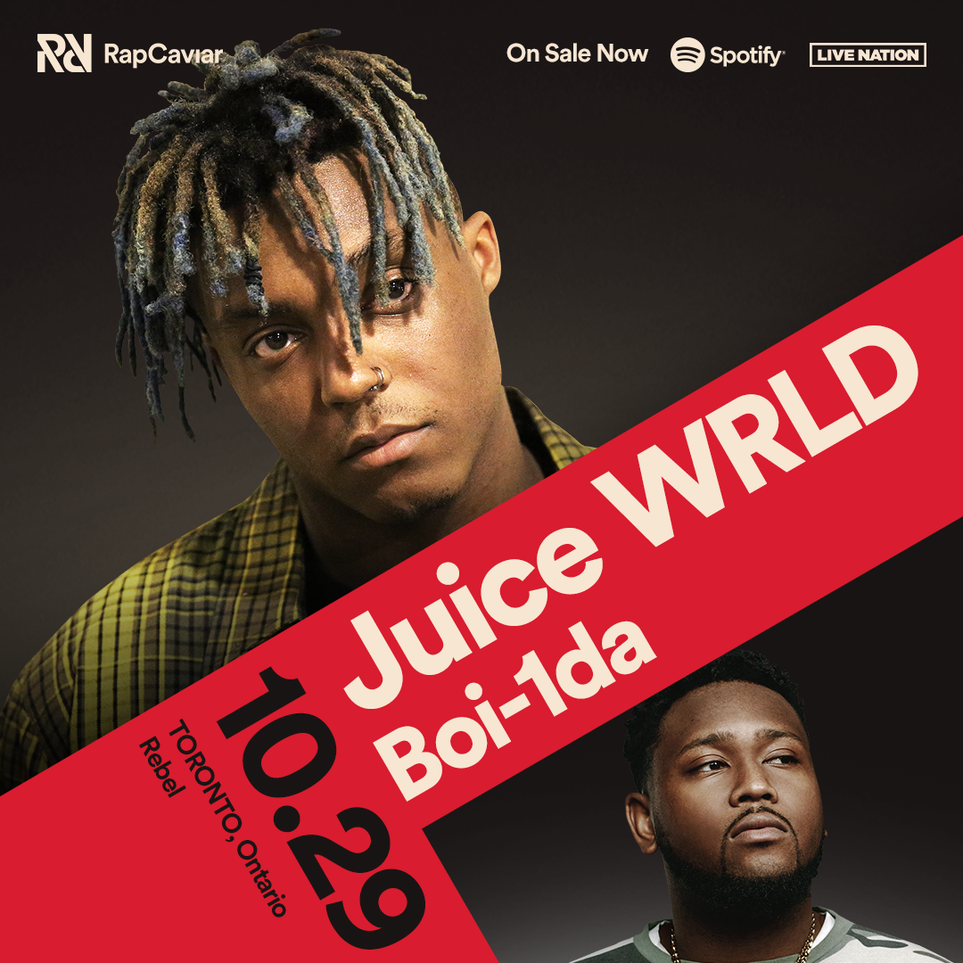 Listen to win 2 Tickets A Rap Caviar presents Juice Wrld with Boi-1da