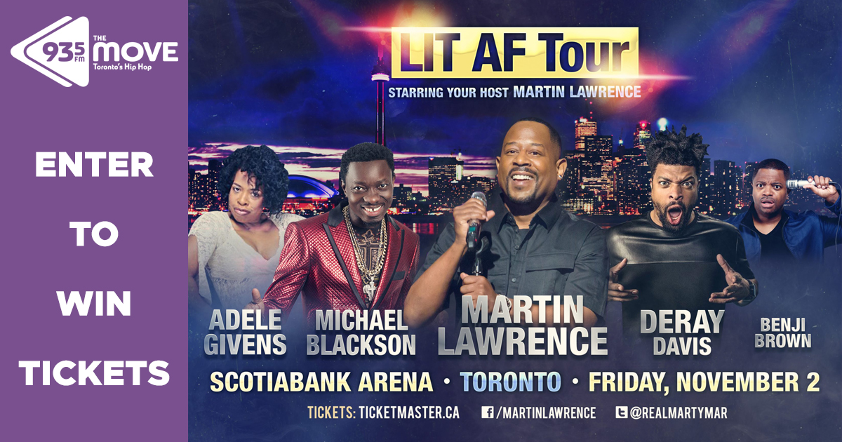 Enter to WIN tickets to see Martin Lawrence LIT AF Tour