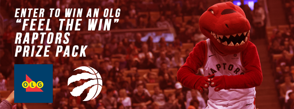 """Enter to WIN an OLG """"Feel The Win"""" Raptors Prize Pack"""