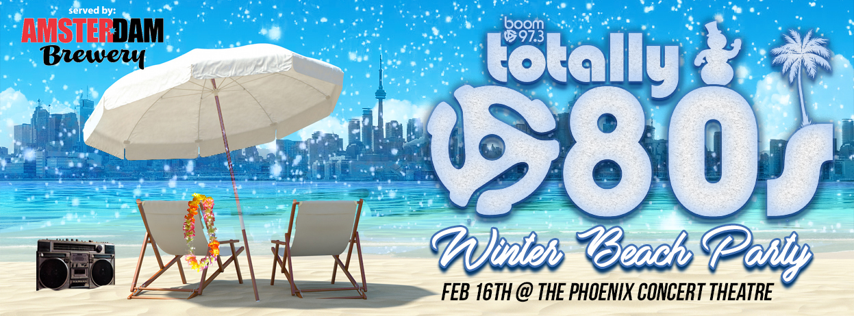 Join boom for our Totally 80's Winter Beach Party!