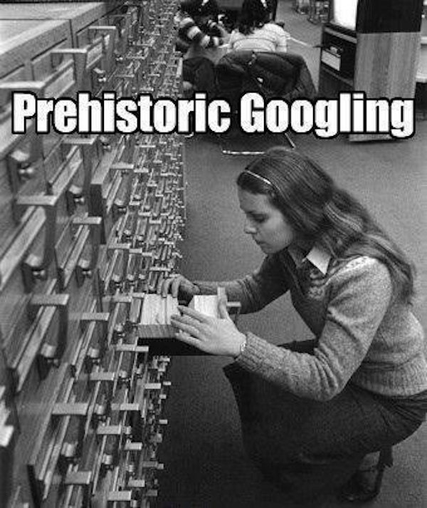 Prehistoric Googling :)