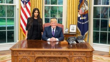 President Trump Meets With Kim K in The Oval Office