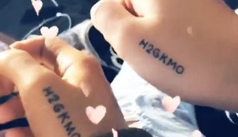 "The Meaning Behind Ariana's New ""H2GKMO"" Tattoo"