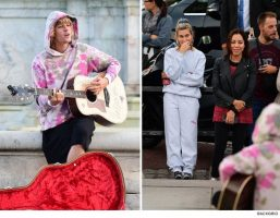 Justin Bieber Serenades Hailey Baldwin Outside of Buckingham Palace