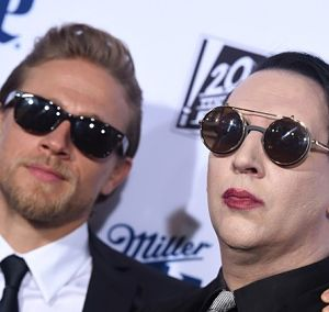 Charlie Hunnam and Marilyn Manson are Getting Bromantic!