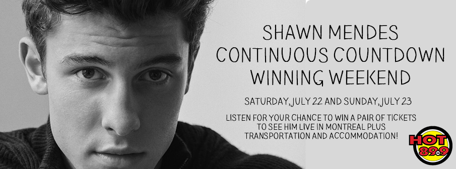 Shawn Mendes Continuous Countdown Winning Weekend