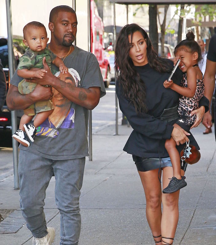 Kim Kardashian and Kanye West bring kids North and Saint West to Serendipity restaurant in New York City