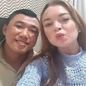 Lindsay Lohan is Hanging with the Korean Hulk.